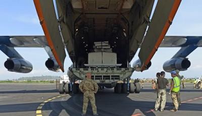 Самолет Воздушных сил ВСУ доставил в Африку автомобильную технику для 18-го отдельного вертолетного отряда Миссии ООН