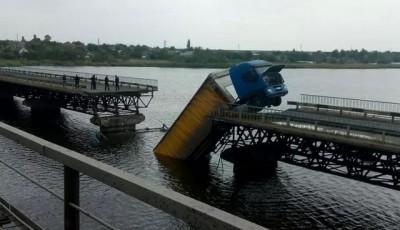 Под Никополем не удалось запустить понтонную переправу вместо рухнувшего моста