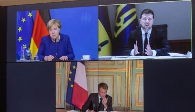 Зеленский, Меркель и Макрон обсудили Донбасс