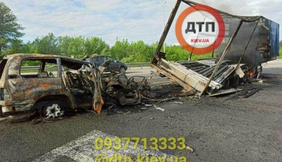 От водителя остался только скелет: под Киевом произошло жуткое ДТП