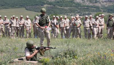 Россия устроила занятия по боевой подготовке в оккупированном Крыму