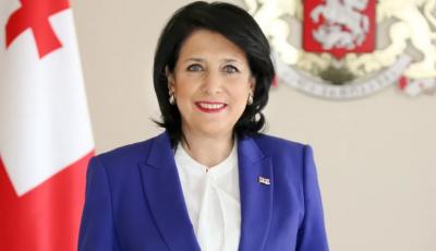 Президент Грузии прибыла в Киев с официальным визитом
