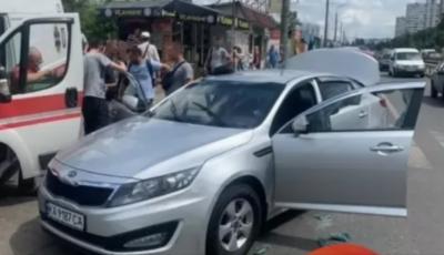 В Киеве женщина протаранила три автомобиля, пытаясь уйти от погони полиции