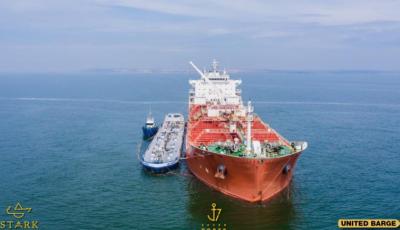В Україні вперше перевантажили олію у відкритому морі