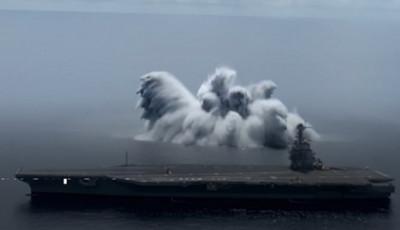 ВМС США почали випробування нового авіаносця в Атлантичному океані – використовують вибухівку