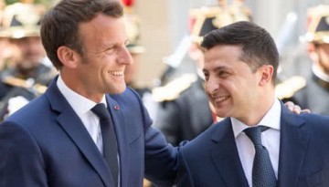 Зеленський і Макрон домовилися про тристоронній дзвінок щодо Донбасу