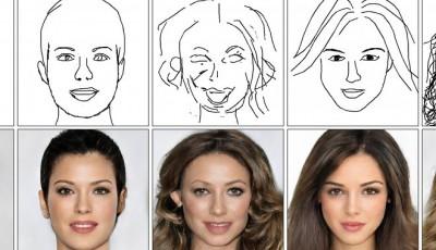 Искусственный интеллект научился создавать детальные портреты людей из самых грубых набросков