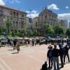 В Киеве инвесторы «Укрбуд» устроили масштабный автопробег и митинг под КГГА