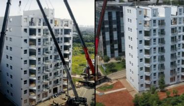 Китайские строители научились возводить 10-этажные высотки за одни сутки